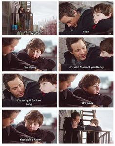 This is actually a super cute yet mind blowing scene. I never loved Neil, but he was a really good father to Henry for the most part... #once #onceuponatime