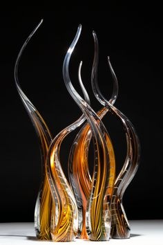 "*Art Glass - ""Threaded Reeds"" by Scott Hartley"
