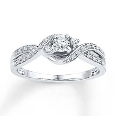 Real Diamond Promise Rings For Her- Promise Ring