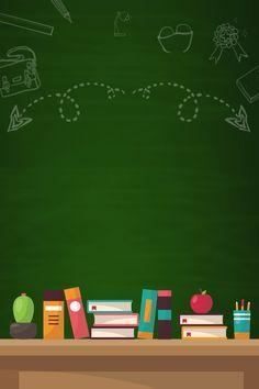 Diseno De Publicidad De Formacion De Educacion Minimalista De Dibujos Animados Verde Fondos Para Ninos Diseno Creativo Del Cartel Fondos Para Diapositivas
