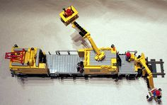legotrein forum // legotrain forum :: Onderwerp bekijken - Maintenance of Way (MOW) Cars without construction plan