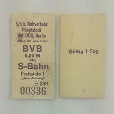 /mg Berliner Nahverkehrtickets. #ddrmuseum