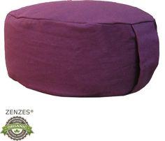 ZENZES-meditatiekussen-rond-aubergine