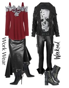 """""""Comfortable"""" by april-wilson-nolen ❤ liked on Polyvore featuring Monse, Philipp Plein, AllSaints and Gianvito Rossi"""