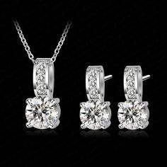 Ice Diva - Platinum Plated & AAA Zirconia Jewelry Set