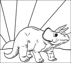 6 Awesome Dinosaur Activities With FREE Printables Triceratops Coloring Page