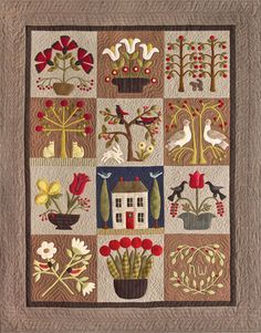 """At Home In The Garden"" quilt pattern by Norma Whaley"