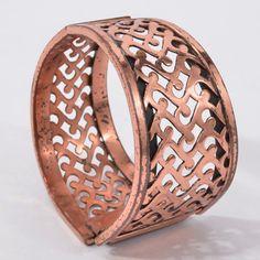 ELEGANT Vintage RENOIR Copper BRACELET Filigree FLOURISHES Scrolls CLAMPER #Renoir