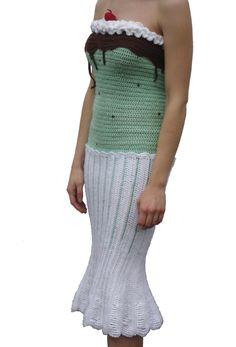 Crochet Sundae Dress by Joy Kampia, creator of the Hamburger Dress.
