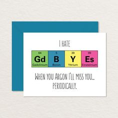 Goodbye Card Printable /  Funny Goodbye Card / Nerdy Goodbye Card / Moving Card / Printable Farewell