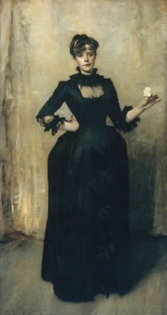 John Singer Sargent, Lady with the Rose (Charlotte Louise Burckhardt), 1882, oil on canvas.