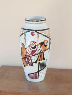Vase Art deco K & G Lunéville - décor Bagdad par Geo Condé