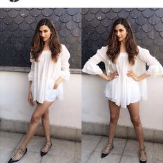 #BollywoodStyleSpy🔍 We can't get over of how #gorgeous #DeepikaPadukone looks in this #allwhite #bohoattire ✨💫💕😁!!  #majorloving #majorcrushing #girlcrush #saturdayvibes #bohochic #effortless #gorgeousness #bohovibes #allwhite #muchlove #divaatfashion