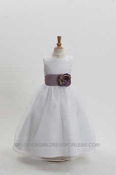 Simple and Cute Flower Girl Dress
