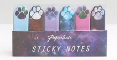 A pack of sticky notes for when you need to ~paws~ your reading.