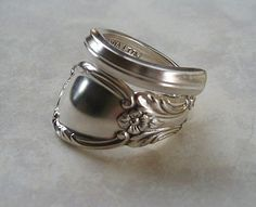 Spoon Ring Recycled Silverware Jewelry by LTCreatesJewelry on Etsy, $16.00