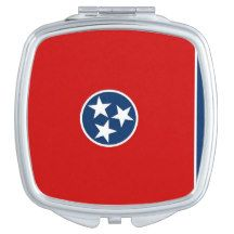Patriotic, special mirror with Tennessee flag