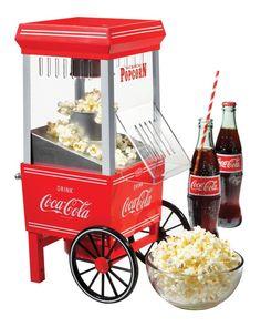 Mini Popcorn Machine Hot Air Popper Coca-Cola Series Retro Vintage Snack Maker #CocaCola