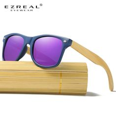 ab286fdf1 EZREAL Wood Sunglasses Men Women Square Bamboo Women For Polarized Mirror  Sun Glasses Oculos de sol