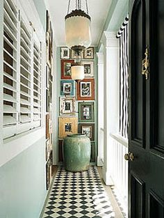 create drama at the end of a long narrow hallway