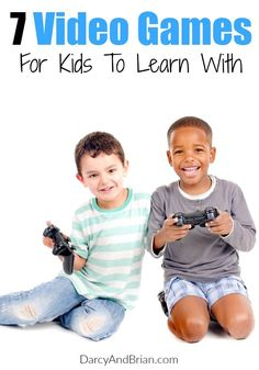 We love these 7 Video Games For Kids! They are great educational games and perfect for fun time or homeschooling! Kids Learning Activities, Teaching Kids, Family Activities, Parenting Articles, Parenting Hacks, Literacy Skills, Video Games For Kids, Educational Games, Business For Kids