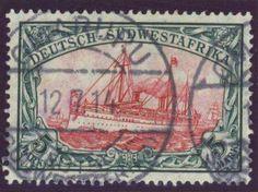 German Colonies, DP-Südwestafrika 1906, 5 Mk., Zhg. A, Mittelstück karmin fluoreszierend, Prachtstück mit Stempeln von OMARURU, gepr. Bothe BPP (gest., Mi.-Nr.32 Ab/Mi.EUR 450,--). Price Estimate (8/2016): 130 EUR.