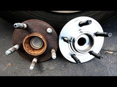 Front wheel bearing replacement - Removal and refitting step by step - YouTube