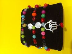 ASSORTED BRACELETS WITH STERLING SILVER CHARMS $56- CALL SPLASH TO ORDER 314-721-6442