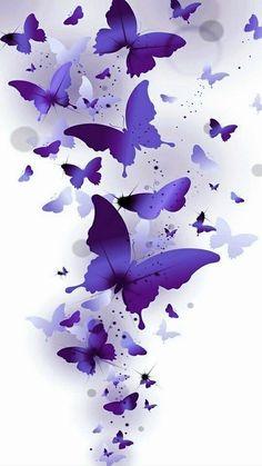 Purple Butterfly Wallpaper, Butterfly Artwork, Butterfly Background, Flower Background Wallpaper, Butterfly Pictures, Flower Phone Wallpaper, Cute Wallpaper Backgrounds, Flower Backgrounds, Colorful Wallpaper