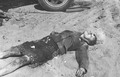 This photo of a dead Russian girl was found in the wallet of a German soldier. Undated, undisclosed location.