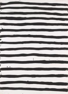 Striped black and white.