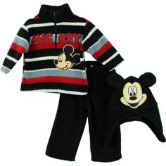 Black/Red Officially licensed Disney Mickey & Minnie Mouse Toddler apparel Set: Polyester Fabric for comfort and style Toddler Outfits, Baby Boy Outfits, Winter Baby Boy, Boys Closet, Disney Boys, Mickey Minnie Mouse, Sweatshirts, 3 Piece, Disney Apparel