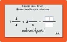 ExceLuisABN Matemática y Excel: Divide fracciones mixtas, con ThatQuiz.
