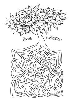 Lovely colouring page for bahai childrens classes grade 3 bahai colouring pages facebook fandeluxe Image collections