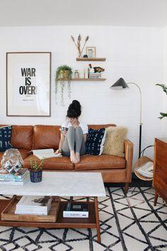 Уютный интерьер в стиле бохо с элементами mid-century | Sweet home