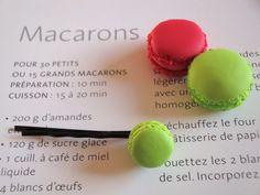 Barrette Macaron à la Pistache  Handmade with Love by Lolitadlachance  Sold here : http://fr.dawanda.com/product/10484334-Pistazie-Makrone-Haarspange#