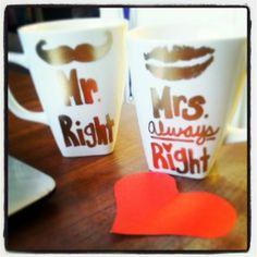 Cute.....DIY Coffee Mugs ♥