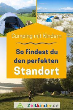 Damit der Campingurlaub mit Kindern ein voller Erfolg wird, ist es wichtig, den perfekten Campingplatz zu finden und sich dabei einiges zu überlegen. Die Bedürfnisse sind ganz unterschiedlich: Camping am Meer, Camping in den Bergen, Zelten am See oder Fluss, naturnah campen oder ein Campingplatz mit Kinderbetreuung. Hier bekommst du eine Planungshilfe, wie du den perfekten Campingplatz für Familien findest. Camping mit Kind | Zelten mit Kind | Campingurlaub | Outdoor mit Kindern #zeltkinder Bergen, Camping Am See, Am Meer, Outdoor, Child Care, Amusement Parks, Canoe, Family Vacations, River