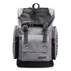 Kangkang  Fashion han edition large capacity in British mens backpack backpack male female college students travel Japan and South Korea bag ** Click image to review more details.(This is an Amazon affiliate link)