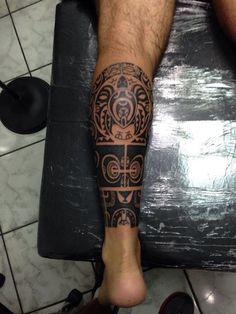 Maori leg #tatuajes #hombres #piernas Más