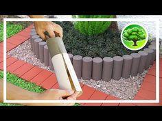 💚 DIY - DEKORACJA OGRODU 2 / GARDEN CEMENT CRAFT - YouTube Concrete Garden, Concrete Design, Concrete Planters, Hanging Flower Baskets, Diy Hanging, Lawn And Garden, Garden Pots, Metal Bending Tools, Pool Landscape Design