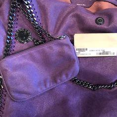 8429d02724f Falabella Large Purple Faux Leather Tote