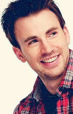 Chris Evans and the plaid shirt.