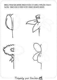 Dokreslování obrázků Art Worksheets, Preschool Worksheets, Mazes For Kids, Art For Kids, Pencil Design, Language Lessons, Spring Activities, Printable Crafts, Doodles