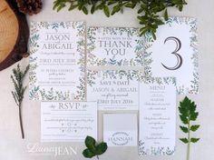 Woodland Walk Wedding Invitation A5