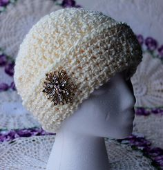 Ladies Fancy Chemo Cap Made with 5 Weight Yarn