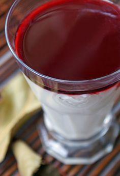 Honey Mascarpone Panna Cotta with Pomegranate Syrup