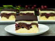 "Dort ""dunajské vlny"" - lahodný dort původem z Německa a Rakouska! - YouTube Sloth Cakes, Mini Cherry Pies, Steak With Chimichurri Sauce, Pie Pops, Sweet Box, Animal Cakes, Easy Salads, Cacao, Chef Recipes"