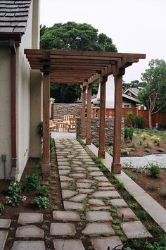 walkway by the side of the house?