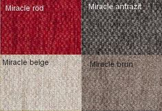 Miracle Röd / Miracle Antrazit / Miracle Beige / Miracle Brun Från Hovden Miracle Red / Miracle Anthracite / Miracle Beige/ Miracle Brown From Hovden